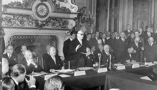 Le traité de Paris, 1947