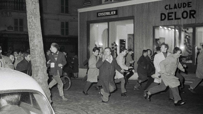 Manifestation anti-OAS à Paris, 1962.