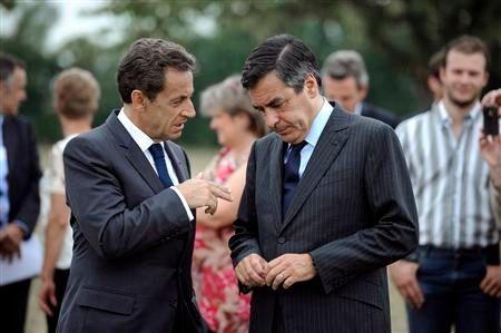 nicolas sarkozy et françois fillon affichent leur unité