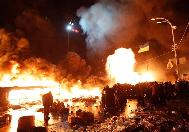 la tension grimpe encore à kiev