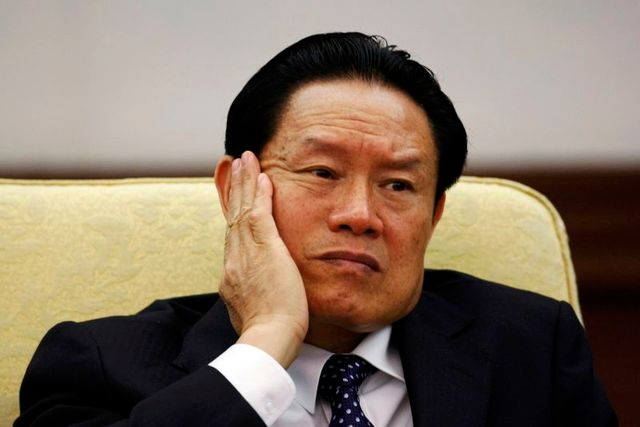 file photo of then china's public security minister zhou yongkang in beijing