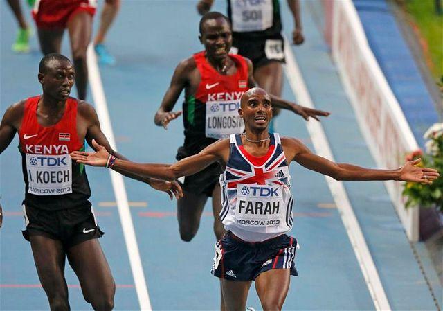mohamed farah réussit le doublé 5.000m-10.000m à moscou