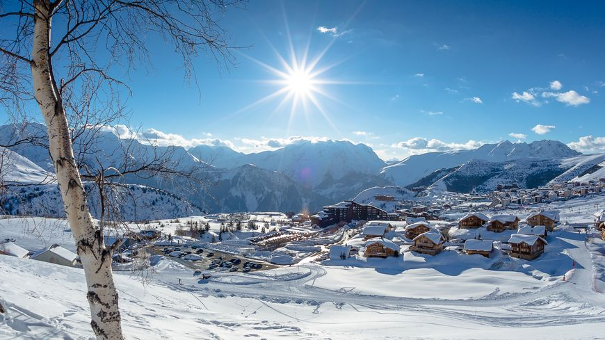 La station de l'Alpe d'Huez. Illustration.