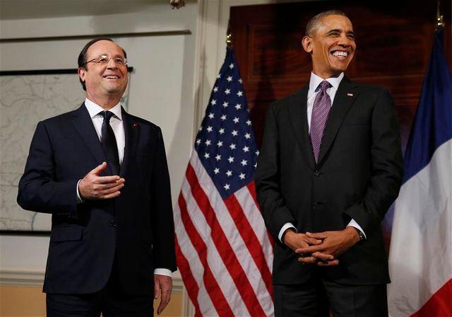 hollande et obama célèbrent l'amitié entre la france et les usa