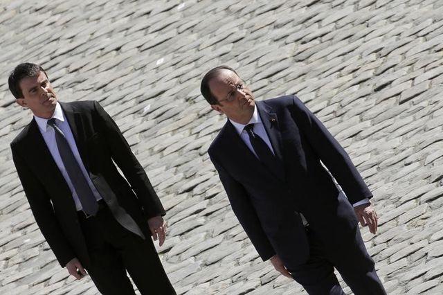 hollande et valls poursuivent leur baisse dans les sondages