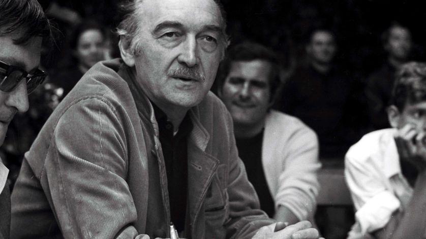 Jean Vilar au Festival d'Avignon de 1968.