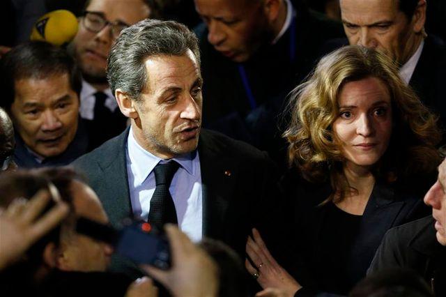 nicolas sarkozy assiste à un meeting de nathalie kosciusko-morizet à paris