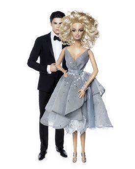 Barbie photographiée par Karl Lagarfeld pose aux côtés du mannequin Baptiste Giabiconi dans le rôle de Ken