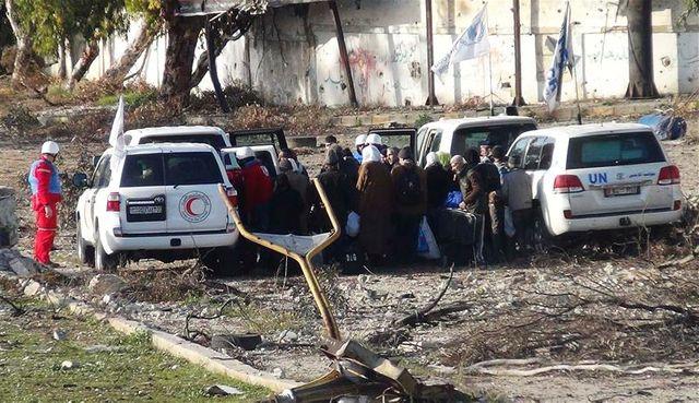 début de l'évacuation des civils à homs