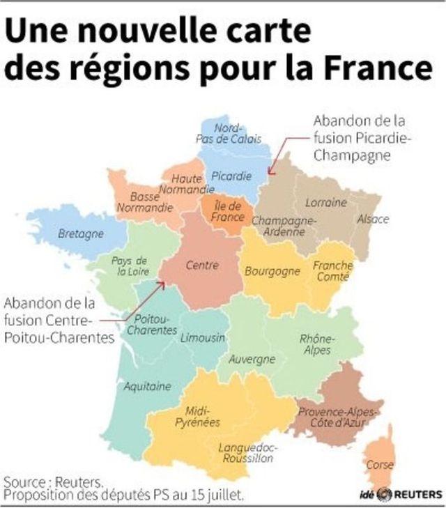 une nouvelle carte des régions pour la france