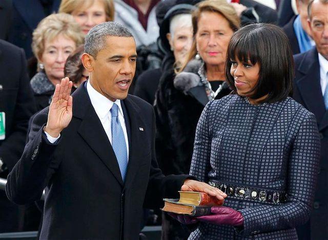 barack obama prête serment pour un second mandat