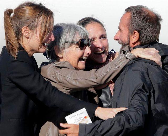 les ex-otages sont arrivés à paris