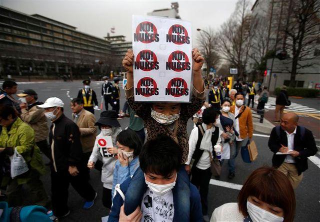manifestation antinucléaire à tokyo, deux ans après fukushima