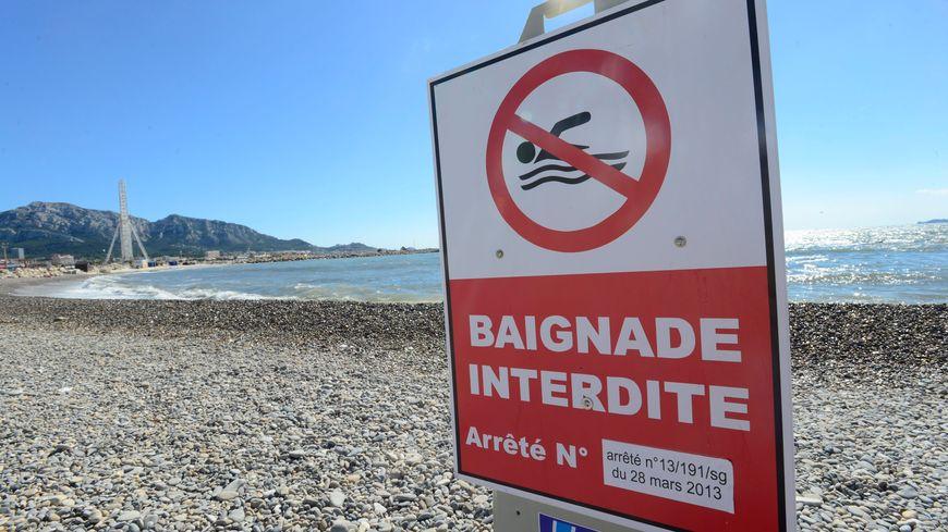 Les plages de Bonneveine et de la pointe rouge sont interdites à la baignade ce lundi