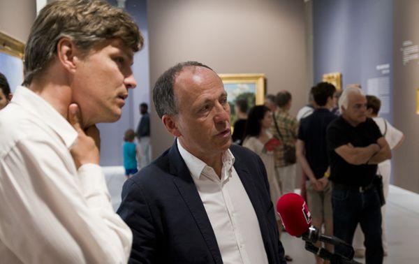 Michel Hilaire au micro de François-Xavier Szymczak au musée Fabre de Montpellier © Photo : Guillaume Decalf / France Musique