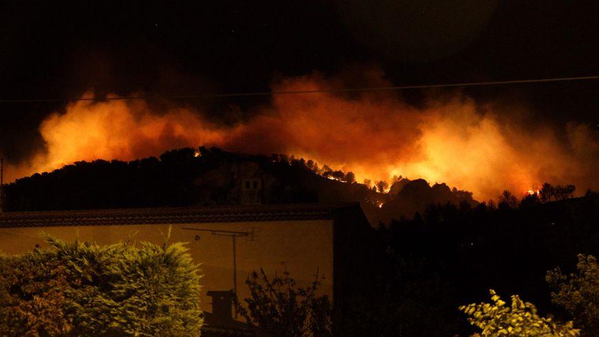 Incendie à Châteauneuf les Martigues