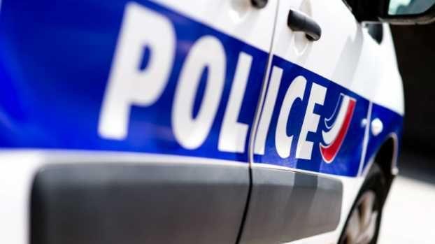 Voiture de police - illustration