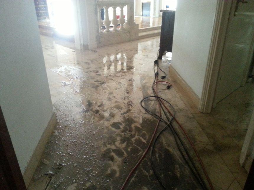 Un appartement du 5ème étage inondé