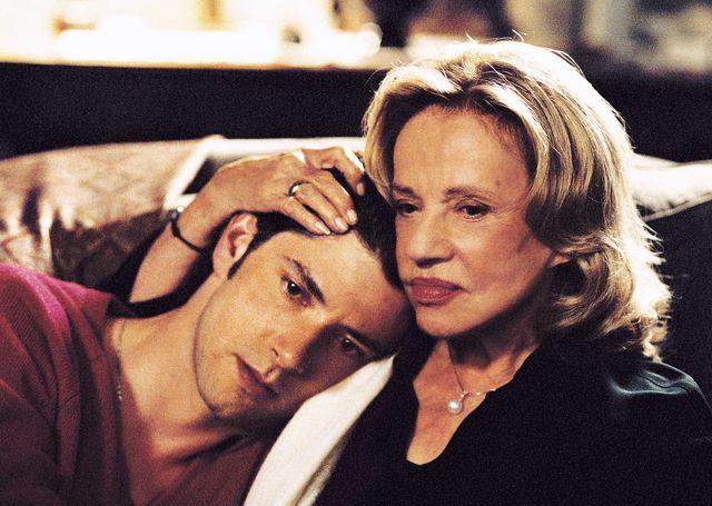 Jeanne Moreau et Melvil Poupaud dans Le temps qu'il reste