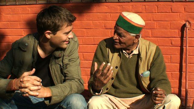 Marc et Satish Kumar © Marc de la Ménadière