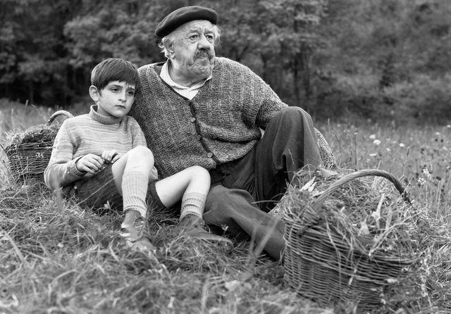 Michel Simon et Alain Cohen dans le vieil homme et l'enfant