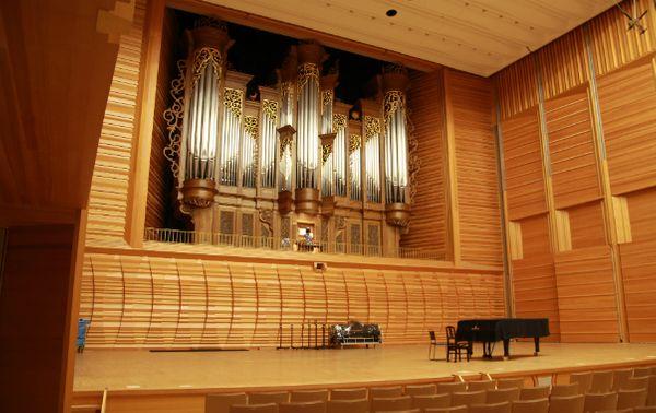 La salle de concert de la Geidai de Tokyo. (© Victor Tribot Laspière / France Musique)