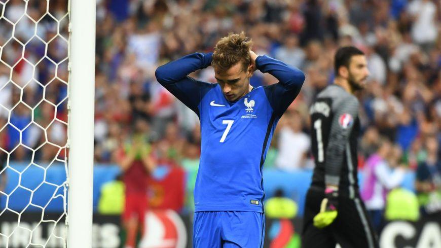 Antoine Griezmann n'a pas réussi à tromper Rui Patricio lors de la finale © Maxppp -