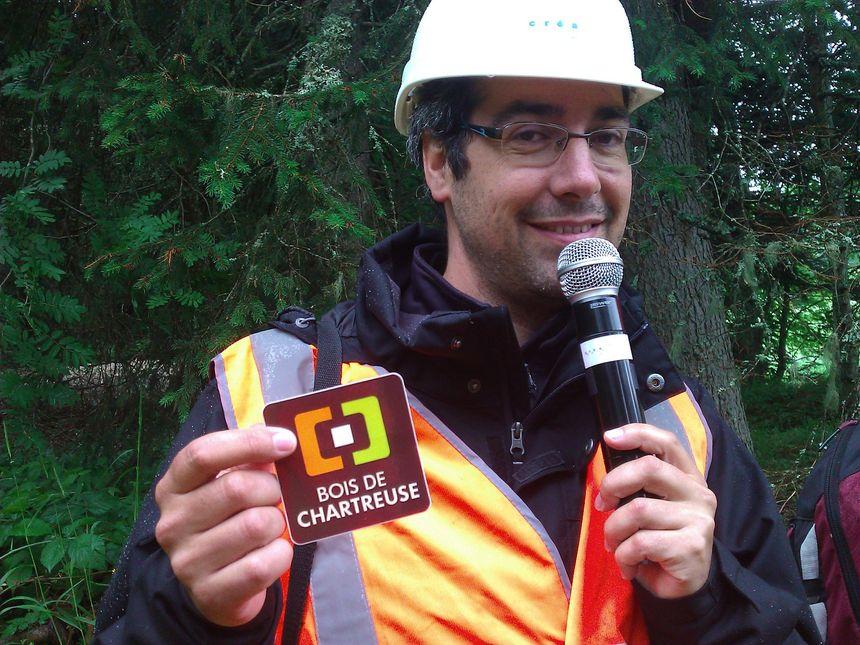 Fabien Bourhis, chargé de mission bois, au Parc de Chartreuse