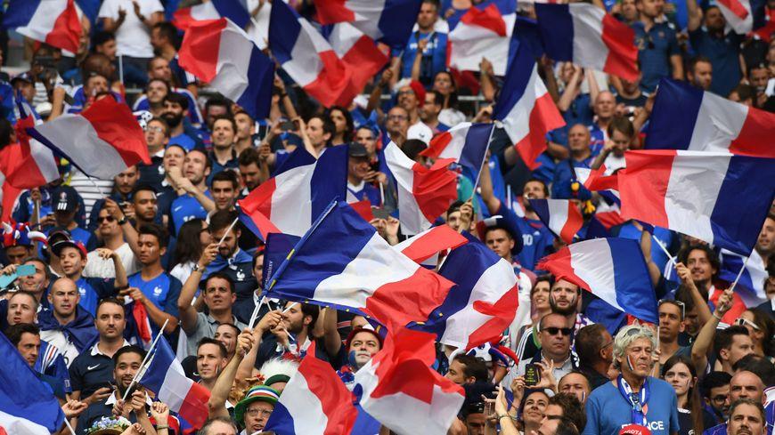 Les supporters français lors de la finale de l'Euro, face au Portugal