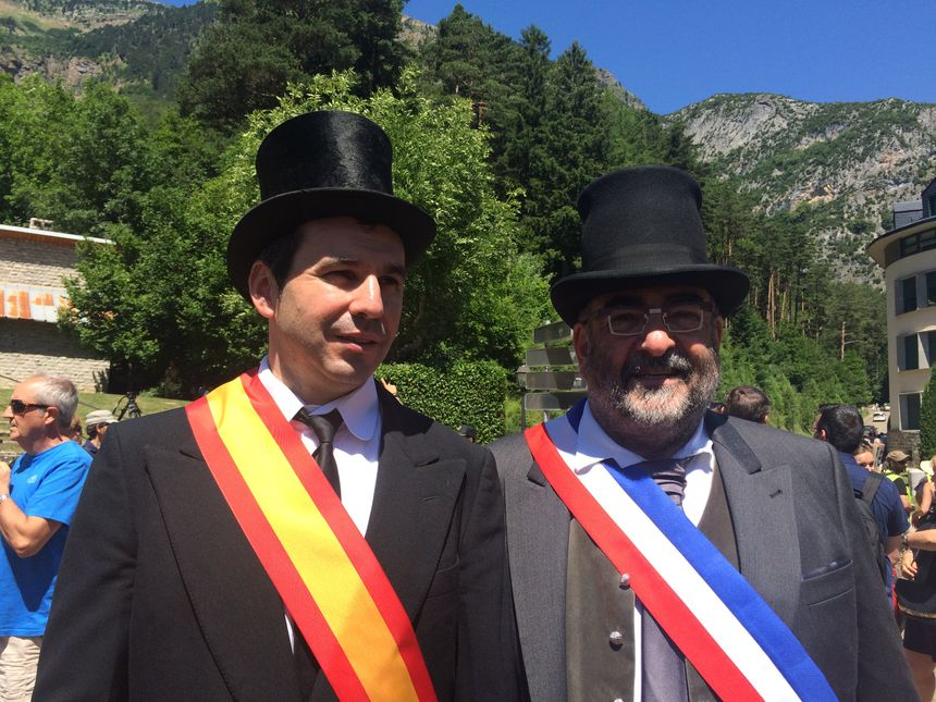 Les maires de Canfranc et Nailloux