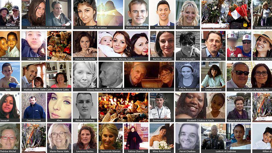 Les portraits des victimes de l'attentat de Nice.