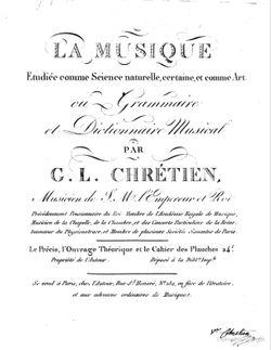 La Musique étudiée comme science naturelle