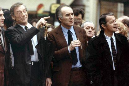 Gérard Depardieu, Yves Montand, Michel Piccoli et Serge Reggiani dans Vincent, François, Paul et les autres