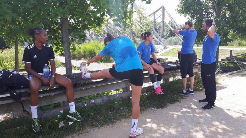 Reprise par un footing au Parc de la Seille pour Metz Handball