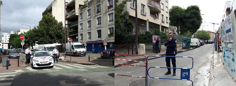 Les rue où se trouve le local des les Restos du Coeur à Montreuil