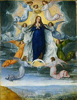 L'Assomption de la Vierge peint par Michel Sittow, vers 1500
