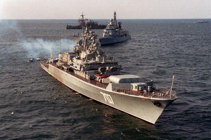 Frégate soviétqiue classe Krivak exercices BALTOPS, 1993