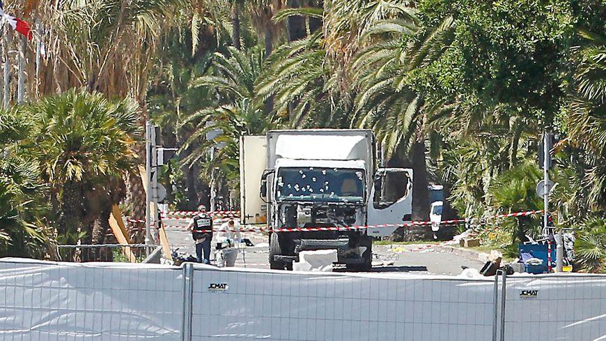 Le camion utilisé le soir de l'attentat de Nice.