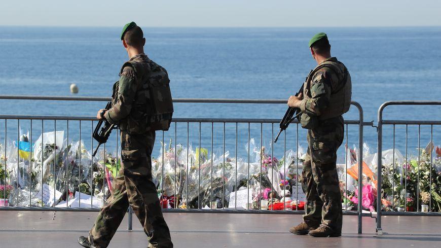 La promenade des Anglais à Nice où 84 personnes ont été tuées jeudi 14 juillet