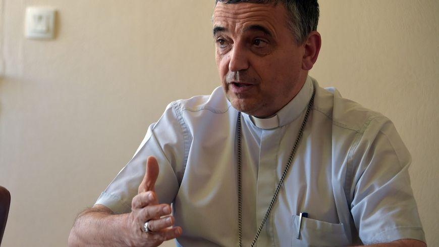 Monseigneur Dominique Lebrun, archevêque de Rouen (juillet 2015).