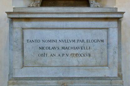 Tombe de Nicolas Machiavel à Florence