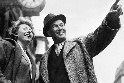 Patachou et Maurice Chevalier à Londres en 1951