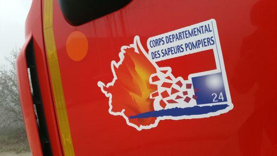 Camion des pompiers de la Dordogne.