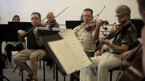 L'orchestre de chambre de Jérusalem © MENAHEM KAHANA / AFP