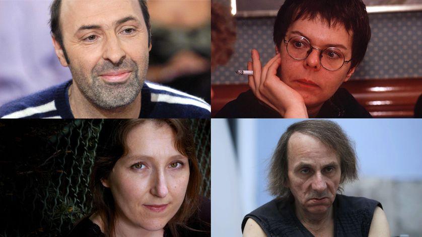 De haut en bas et de gauche à droite,Klapisch Ferran, Darrieussecq, Houellebecq.