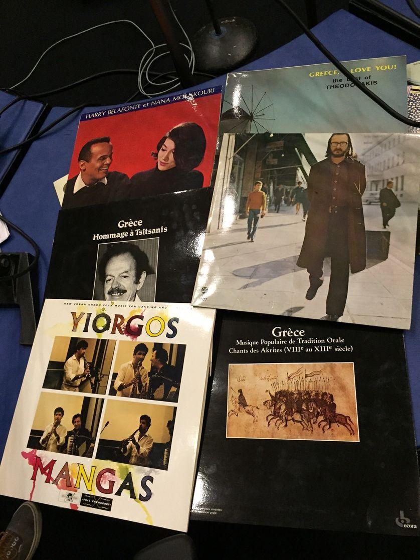 Vinyles sélection Grèce / Discothèque de Radio France