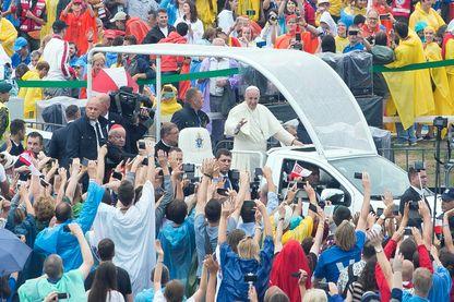 Le pape François le 28 juillet 2016 aux JMJ