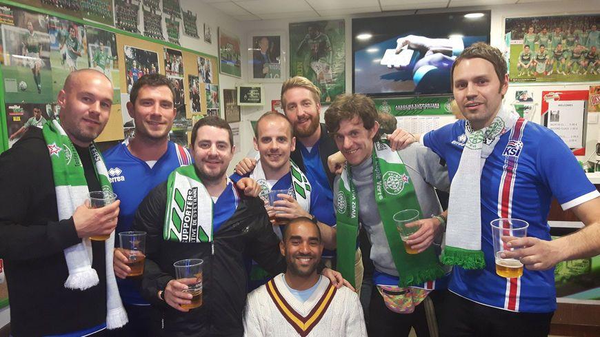 Quand les supporters Islandais se paraient de vert à Saint-Etienne.