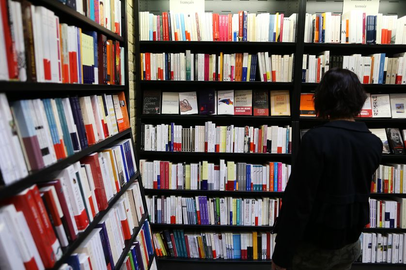 Dans une librairie de Rouen