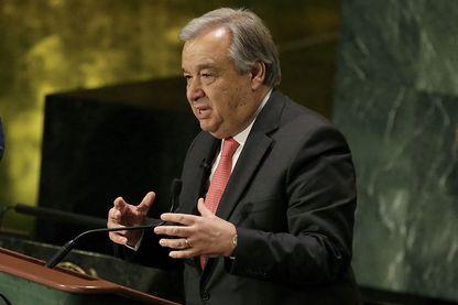 Le 16 juillet 2016, le candidat au poste de Secrétaire général des Nations Unies, Antonio Guterres, ancien Premier ministre du Portugal et haut commissaire de l'ONU pour les réfugiés.